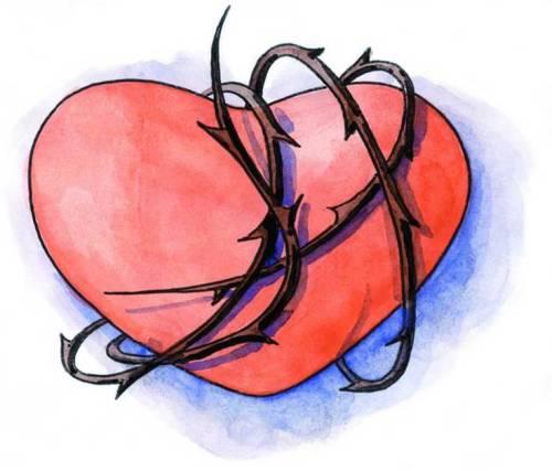 Coração com espinhos